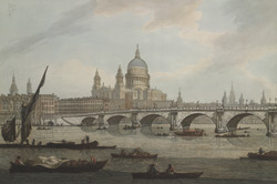 View of Blackfriars Bridge and St Paul's Cathedral